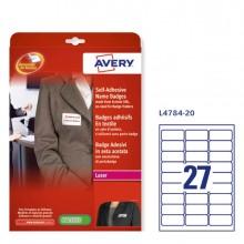 Etichette badge in seta acetata 63,5x29,6mm (27et/fg) 25fg - laser Avery