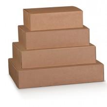 Scatola box per gastronomia d'asporto linea Boite 40x32x12cm avana (Conf.10)