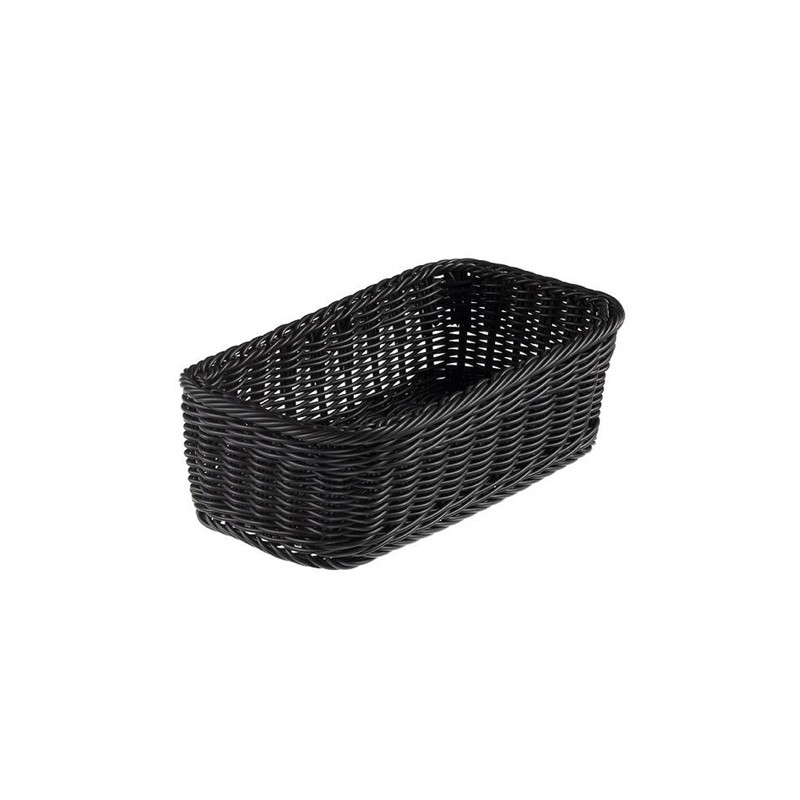 Cestino Vanity polipropilene rettangolare 32,5x17,5x10h cm nero Leone