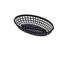 Cestino americano ovale in plastica 27,5x17,5x4cm nero Leone (Conf.12)