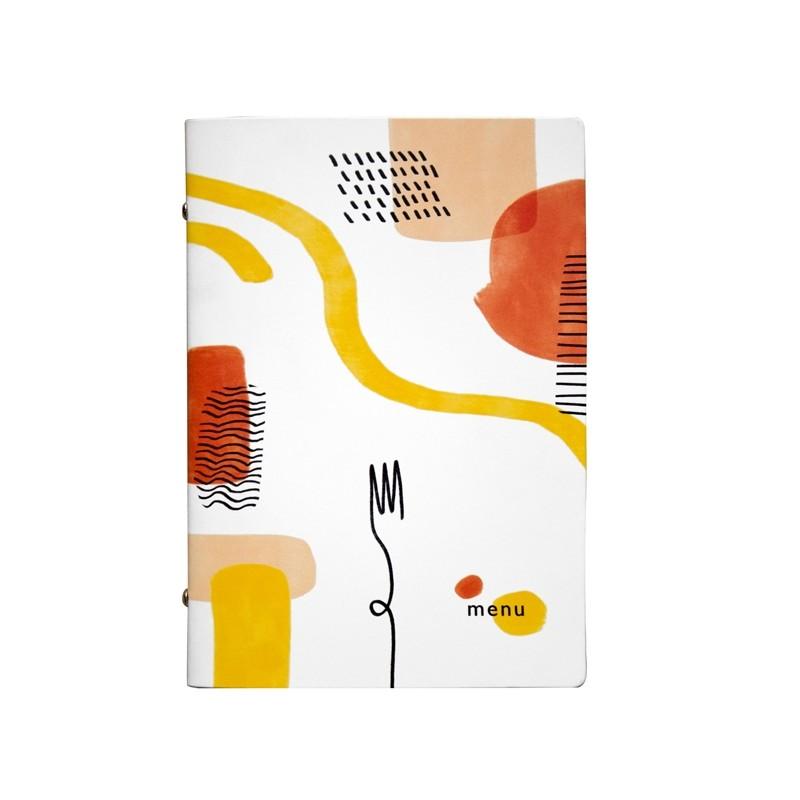 Portamenù F.to A5 17x23cm Linea Spaghetti - bianco (Conf.3)