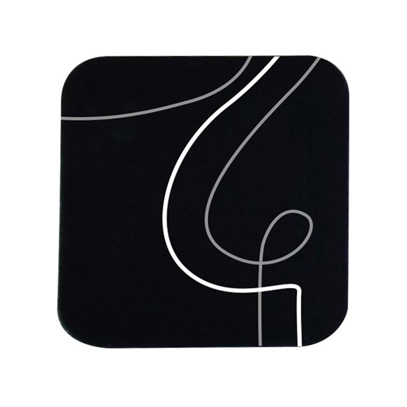 Sottobicchiere 10x10cm Linea Linee - nero (Conf.6)