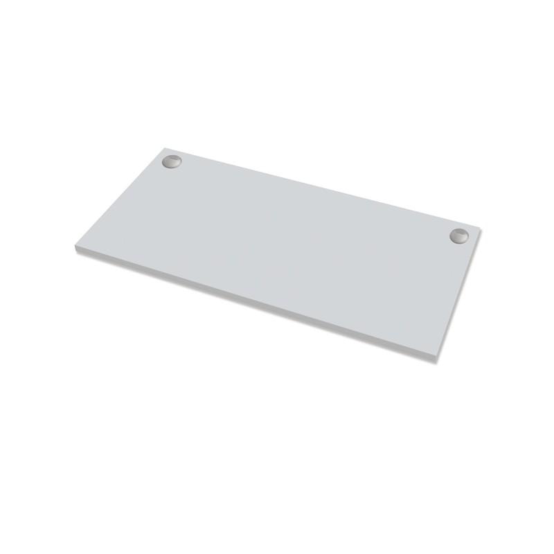 Piano di lavoro per scrivania Cambio - 140x80x2,5cm - grigio Fellowes