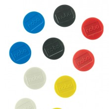 10 Magneti Ø32mm colori assortiti Nobo
