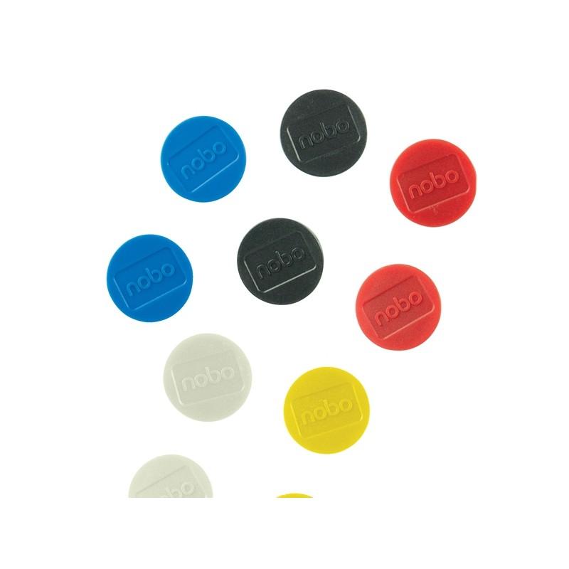 10 Magneti Ø38mm colori assortiti Nobo