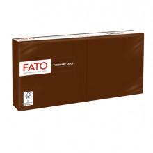 100 tovaglioli carta 25x25cm 2 Veli Cioccolata Fato
