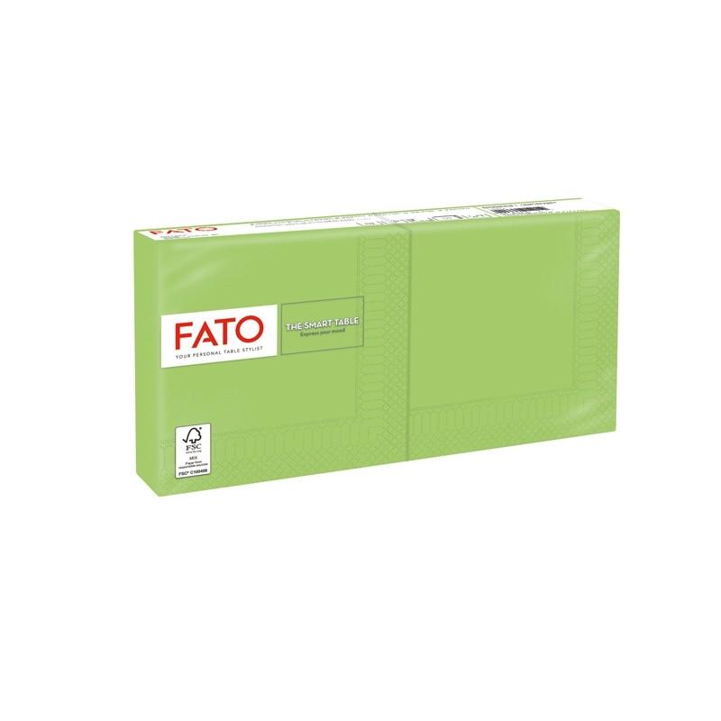 100 tovaglioli carta 25x25cm 2 Veli Verde mela Fato