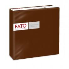 50 tovaglioli carta 40x40cm color cacao Linea Airlaid Fato