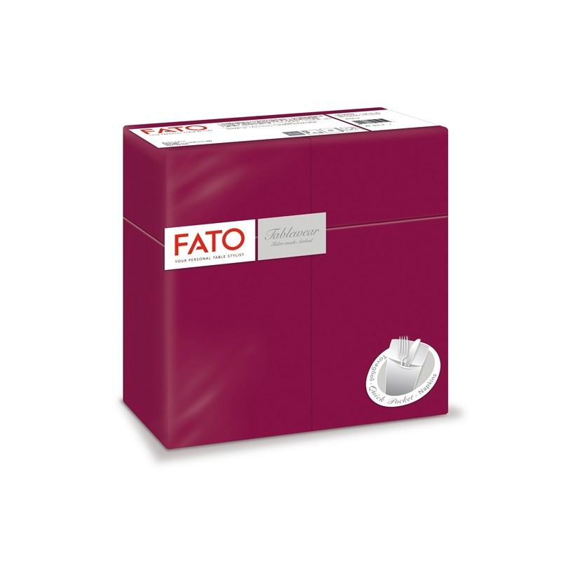 50 Quick Pocket 40x40cm color bordeaux Linea Airlaid Fato