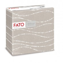 50 tovaglioli carta 40x40cm color perla/tortora Linea Airlaid Fato