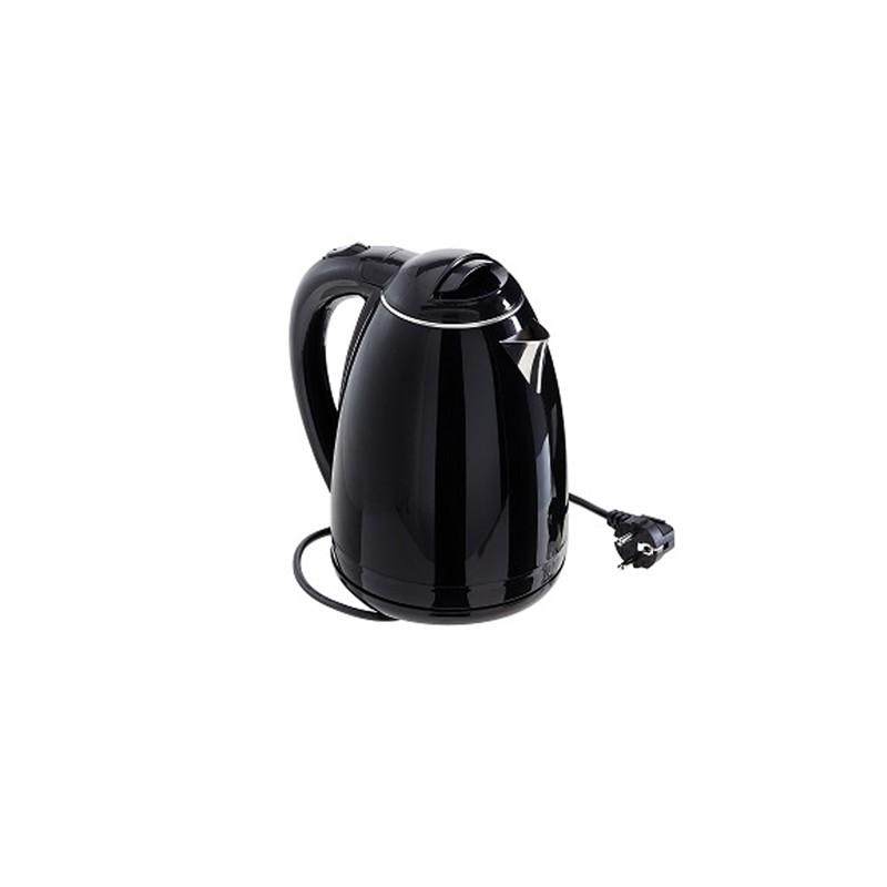 Bollitore elettrico nero 1,7lt Leone