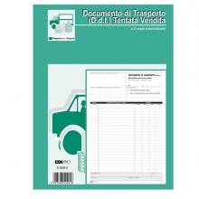 Blocco Ddt Carico Tentata Vendita A4 50 Fg Autoric. E5220C Edipro