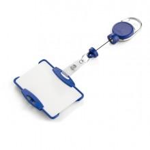 Porta badge c/chiocciola YO-YO extra-strong blu Durable