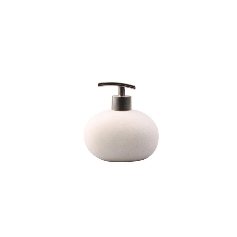 Dispenser sapone liquido bianco linea Stone
