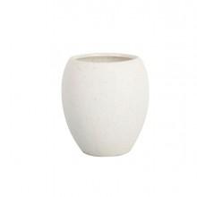 Bicchiere porta spazzolini bianco linea Stone