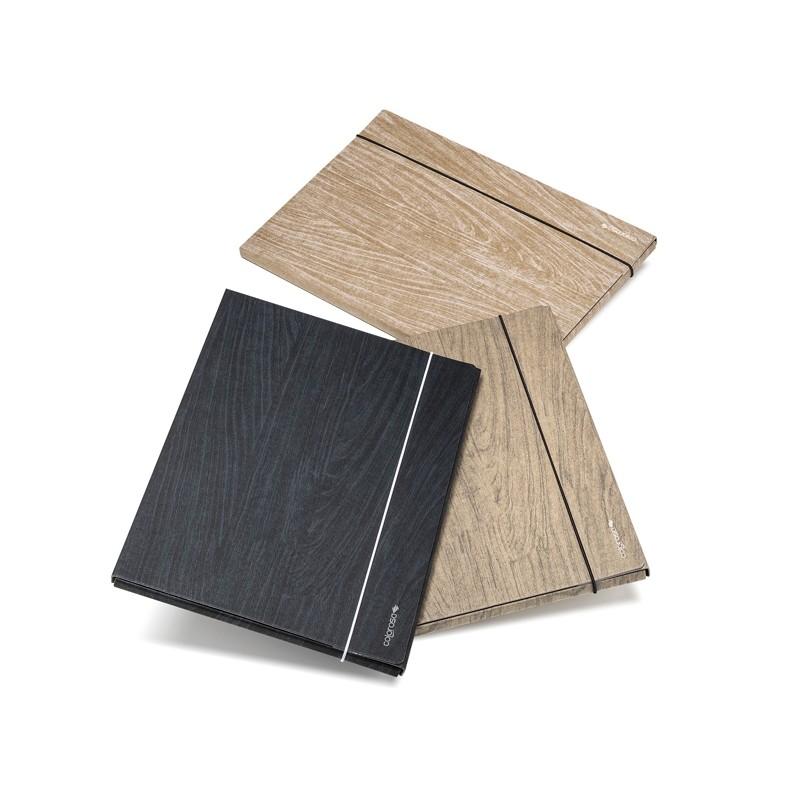 Cartella 3 lembi Colorosa Wood dim. 25x35x1cm colori ass. Ri.Plast (Conf.12)