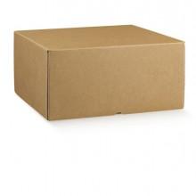 Scatola box per gastronomia d'asporto linea Marmotta 30x40x19,5cm avana (Conf.2)