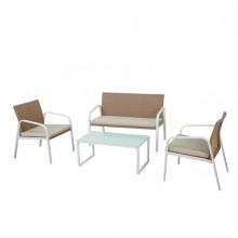 Salotto Madeira bianco/beige - set 4 elementi