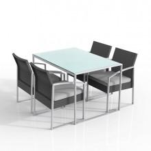 Set pranzo Bilbao nero/grigio - set 5 elementi
