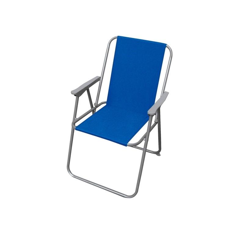 Sedia pieghevole blu Relax