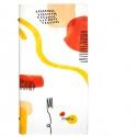 Portamenù F.to 18x31,6cm Linea Spaghetti - bianco (Conf.3)