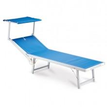 Lettino con copertura blu Ibiza