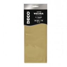 Busta 5 fogli carta velina metallizzata 20gr 50x76cm oro CWR