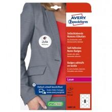 Etichette badge per tessuti rotonde Ø65mm (8et/fg) 20fg - laser Avery