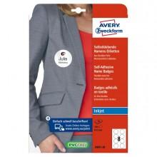 Etichette badge per tessuti rotonde Ø65mm (10et/fg) 20fg - inkjet Avery