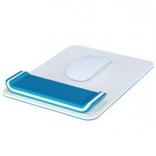tappetino mouse con poggiapolsi Ergo WOW bianco/blu - Leitz
