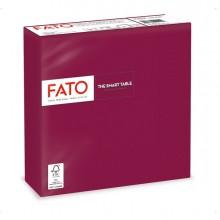 50 tovaglioli carta 33x33cm 2 Veli Bordeaux Fato