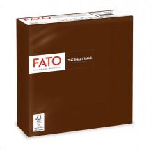 50 tovaglioli carta 33x33cm 2 Veli Cioccolata Fato