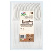 50 Coltelli avorio in Estabio Dopla Green art. 03904