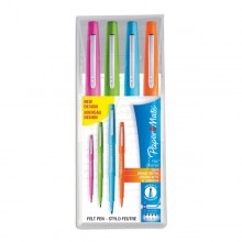 Busta 4 Colori Fun Pennarello Flair Nylon Papermate