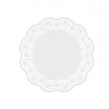 6 Sottotorta decorativi in carta bianca diametro 27cm