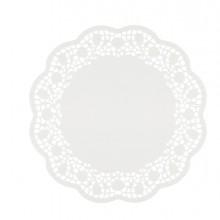 12 Sottotorta decorativi in carta bianca diametro 30cm