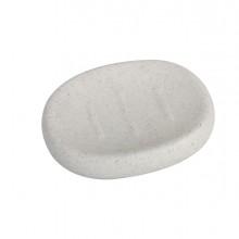 Portasapone bianco linea Stone