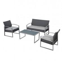 Salotto Alicante bianco/grigio - set 4 elementi