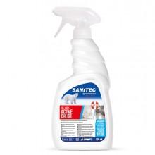 Detergente sgrassante clorinato 750ml Sanitec