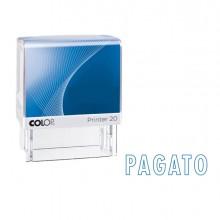 """Timbro Printer 20/L G7 Autoinchiostrante 14X38Mm """"Pagato"""" Colop"""