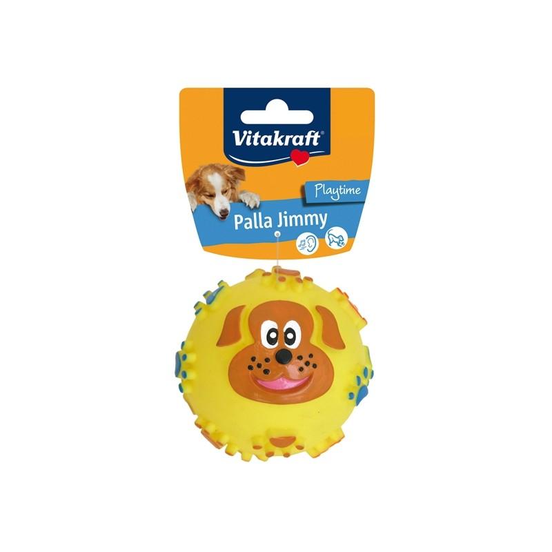 Palla Jimmy con fischietto per cani
