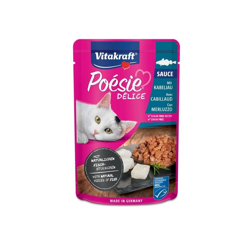 Poèsie DèliSauce per gatti gusto merluzzo 85 gr