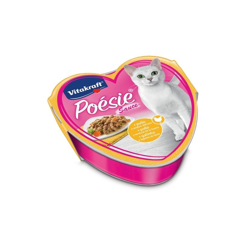 Poèsie per gatti gusto pollo e verdure dell'orto 85gr