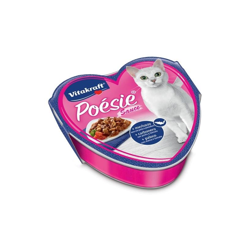 Poèsie per gatti gusto merluzzo con pasta e pomodoro 85gr