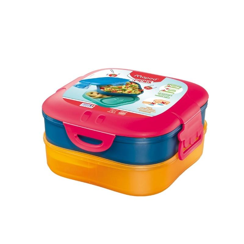Lunch Box 3 in 1 rosa corallo Picnik Concept Maped