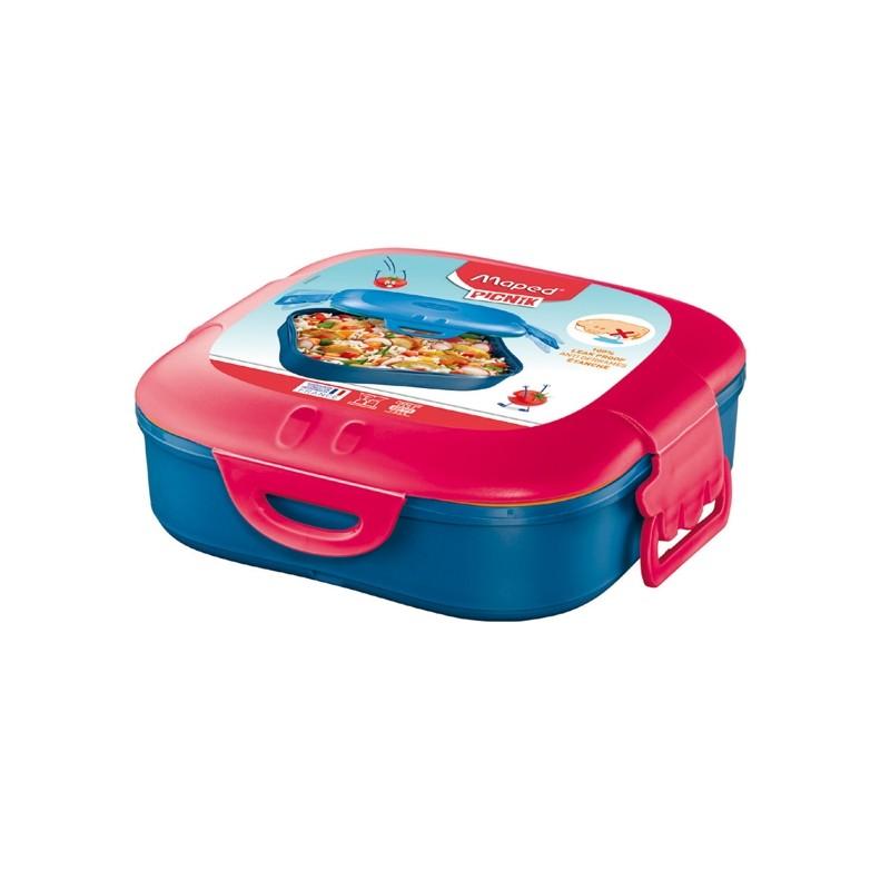Lunch Box 1 scompartimento rosa corallo Picnik Concept Maped