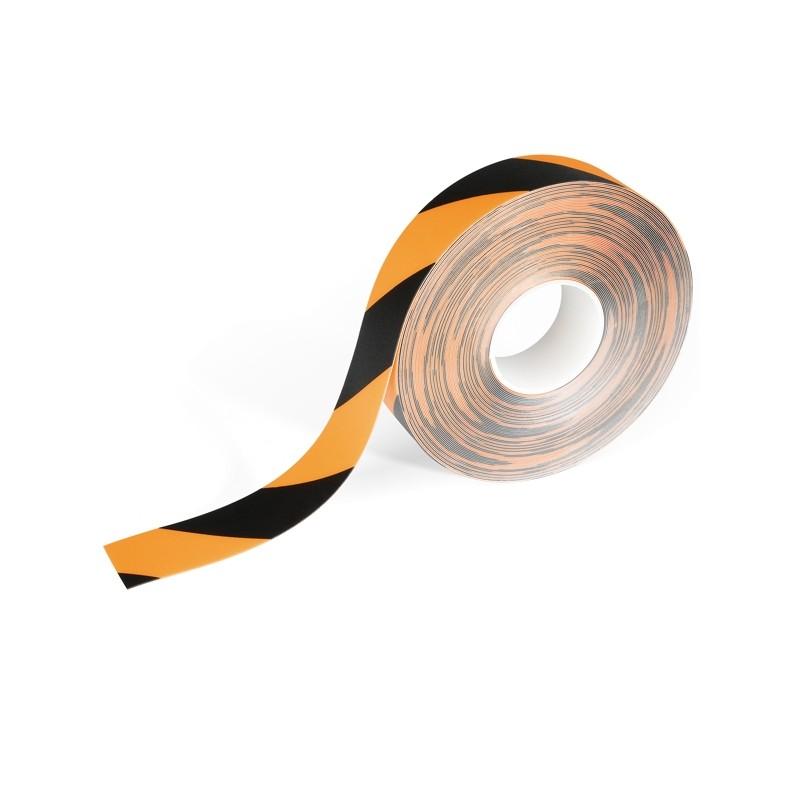 Nastro adesivo rimovibile per segnalazioni da terra 50mmx15m giallo/ner Durable