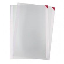 Confezione 5 tasche a L con retro adesivo f.to A4 rosse Tarifold