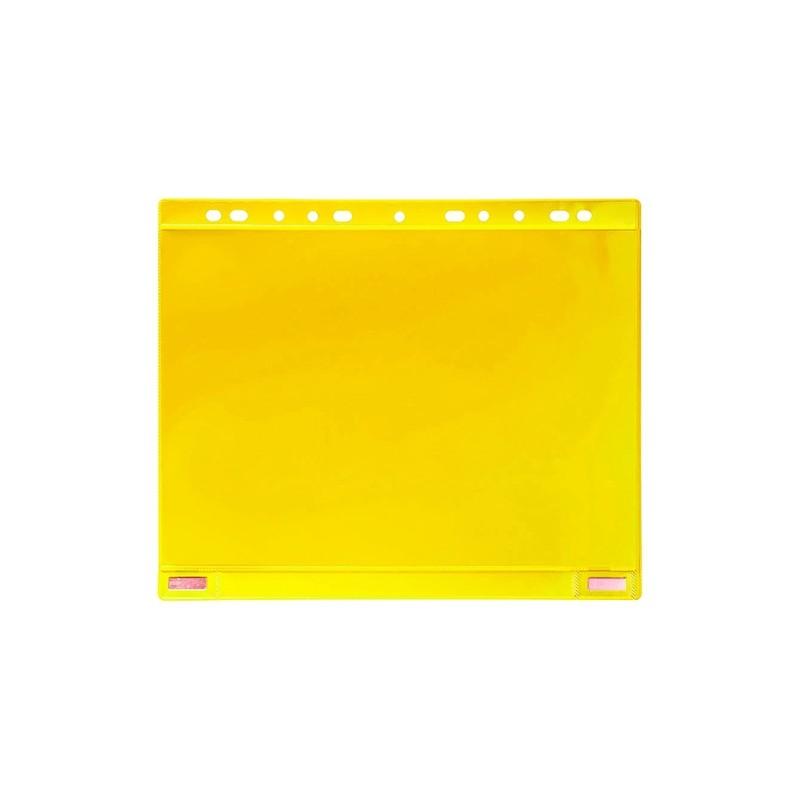 Conf. 5 Buste forate per supporti magnetici ad anelli f.to A4 giallo Tarifold