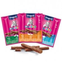 Confezione da 3 Cat-Stick mini per gatti gusto tacchino e agnello 18 gr